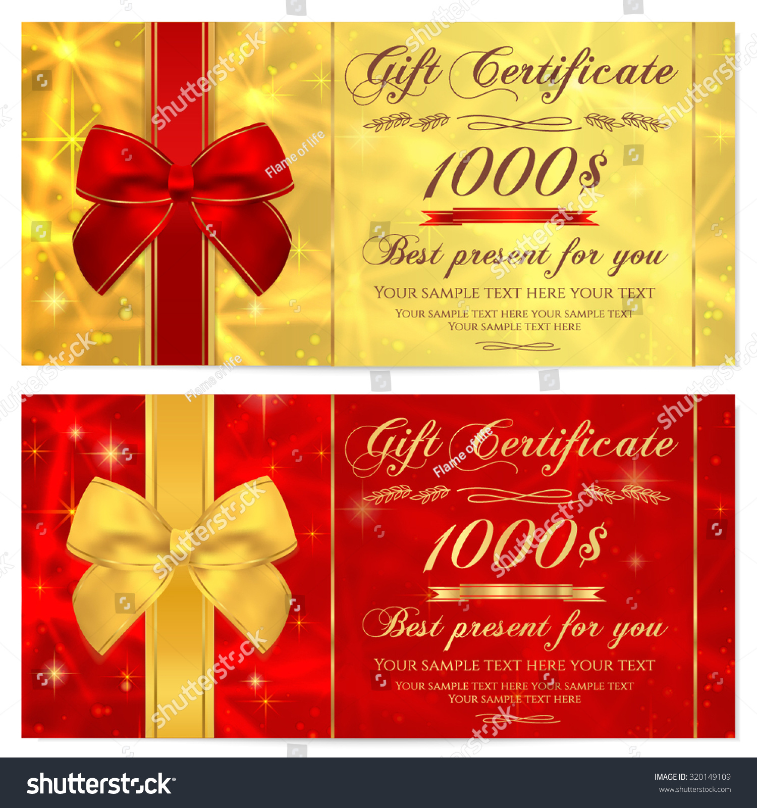 Royalty-free Gift certificate, Voucher, Coupon,… #320149109 Stock ...