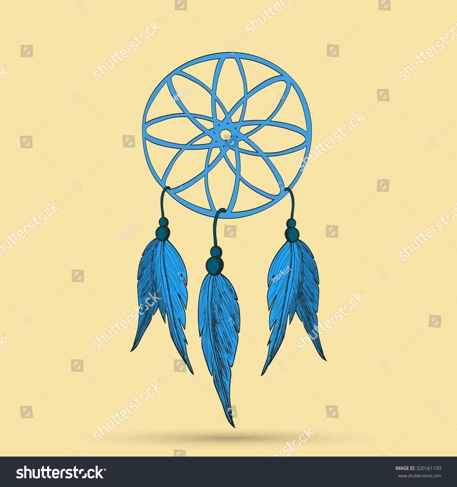 Dreamcatcher Feathers Beads Native American Indian Stock ...