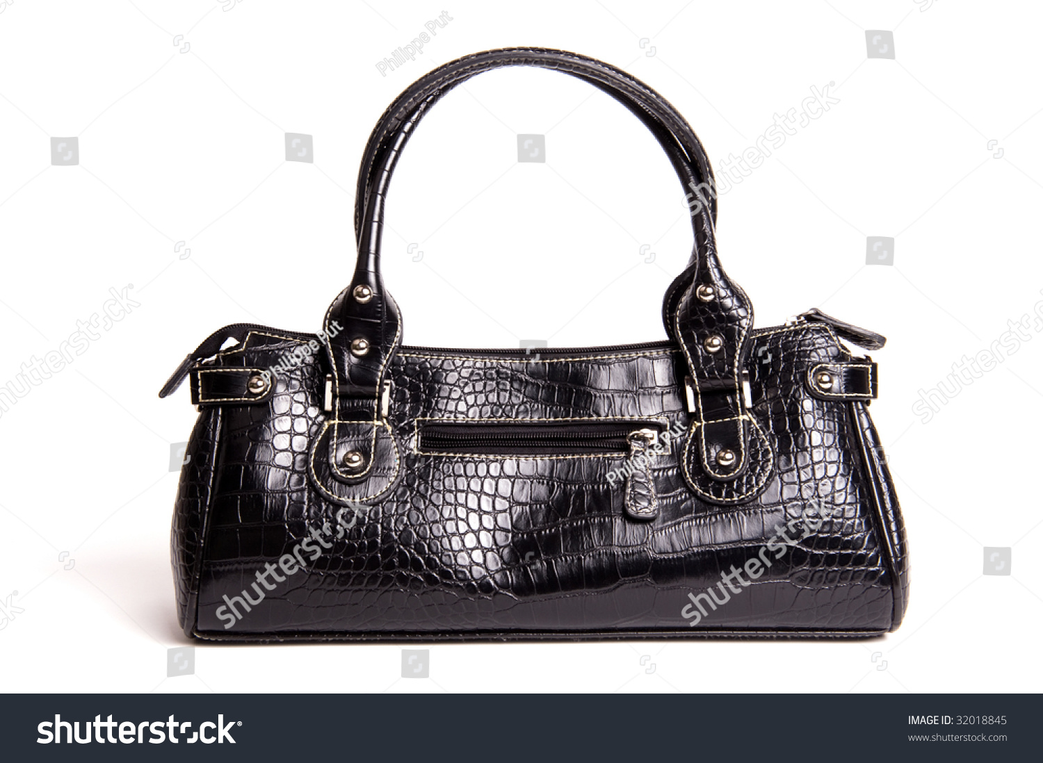 0ec42c77 Fancy Bag Made Out Fake Crocodile Stock Photo (Edit Now) 32018845 ...
