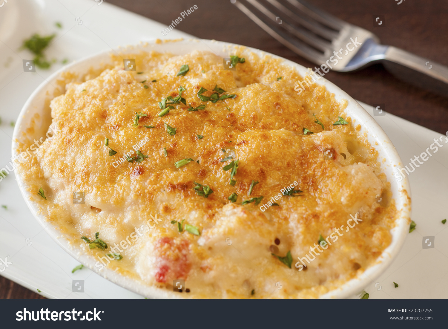 Lobster Mac N Cheese Topped Truffle Stock Photo 320207255 ...
