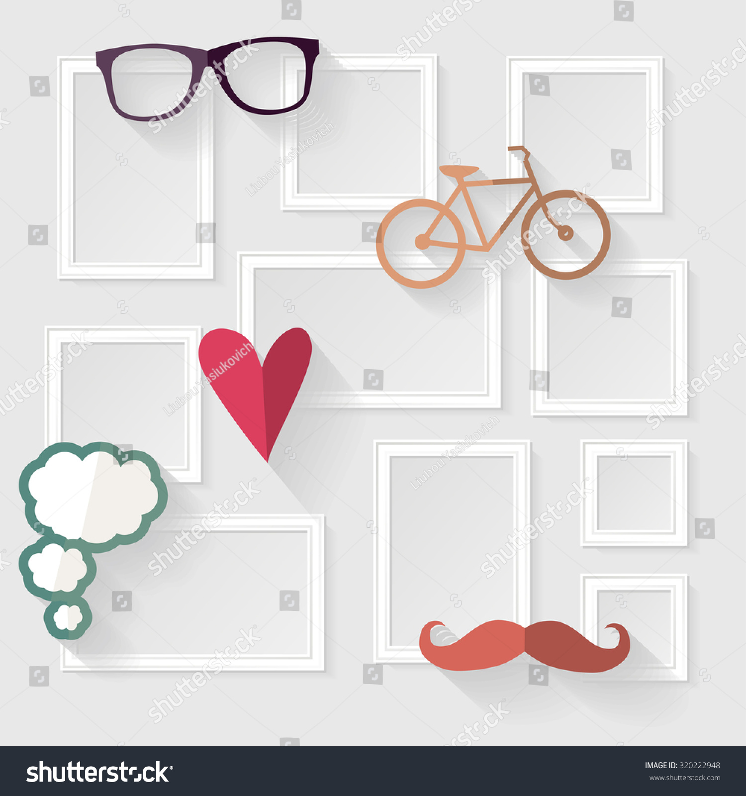 Design A Wall Decorative Template Frame Design On Wall Stock Vector 320222948