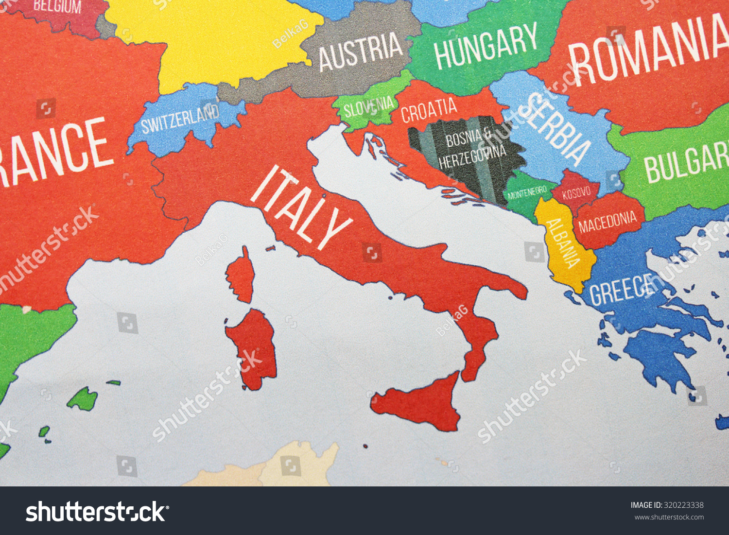 Italy map close stock photo edit now 320223338 shutterstock italy map close up gumiabroncs Image collections