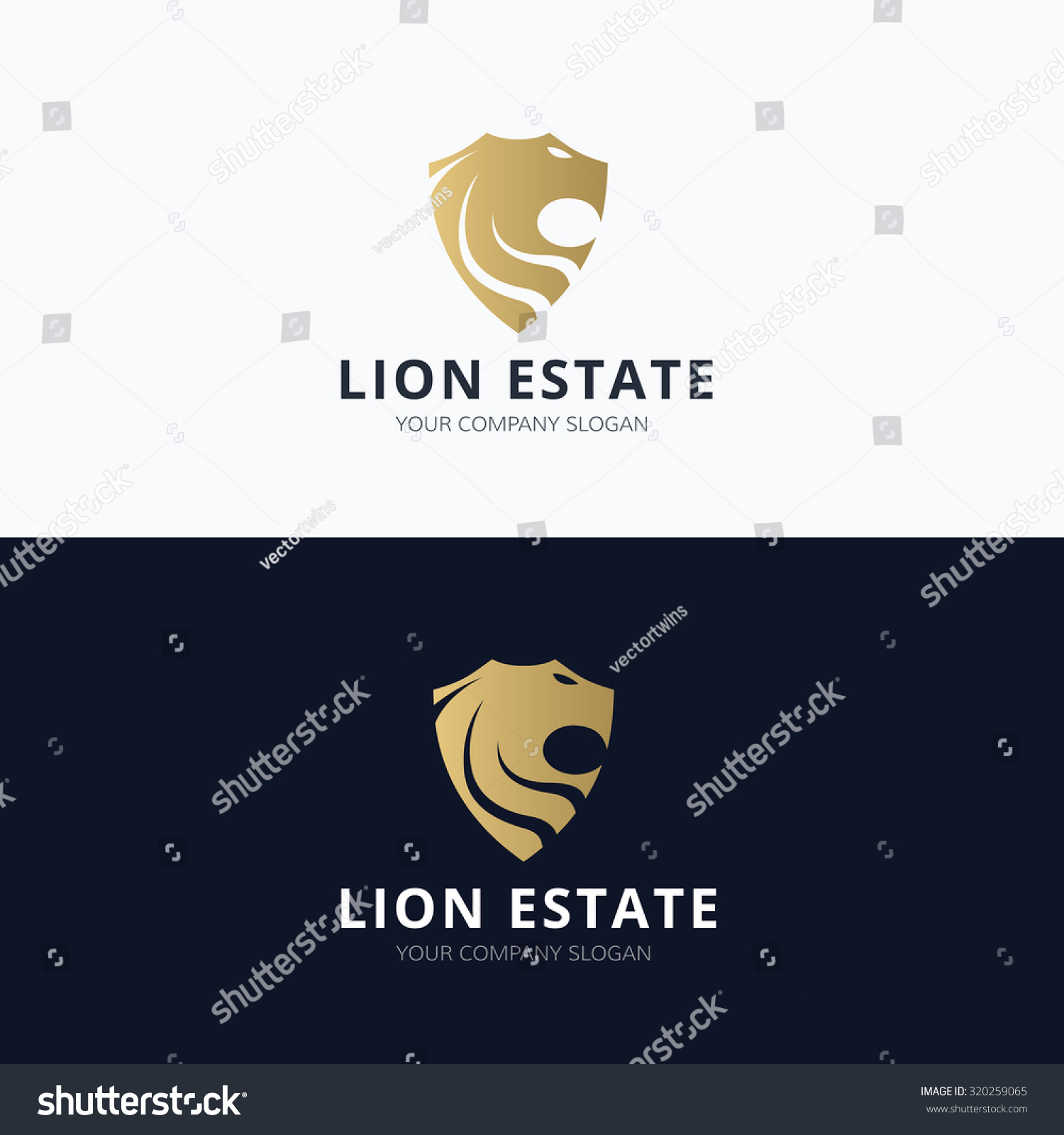 Lion Estate Real estate Logo Lion logo Vector logo template