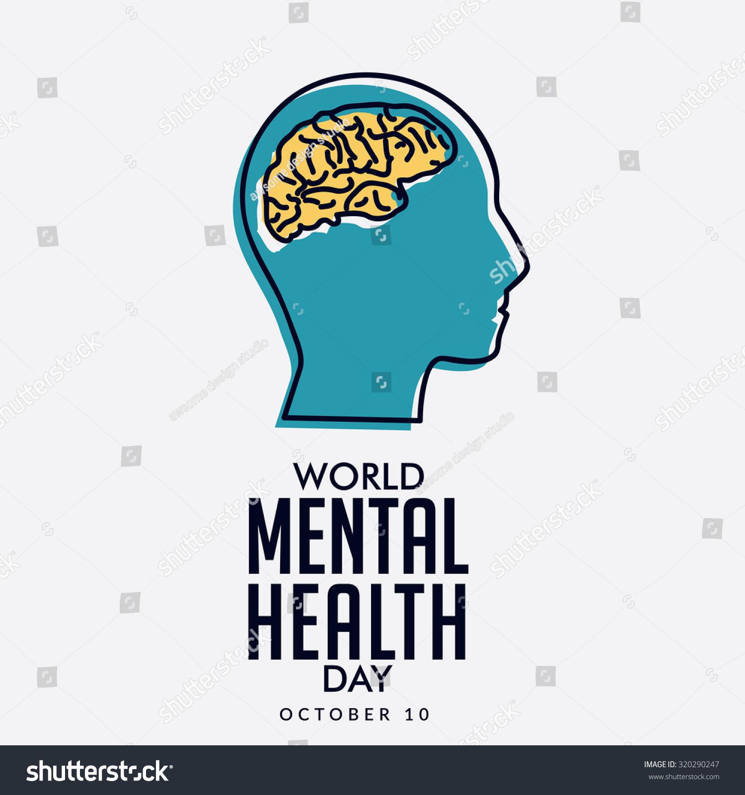 Vector Illustration World Mental Health Day