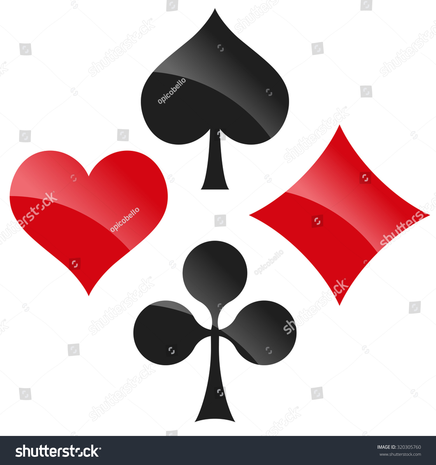 French Playing Cards Symbols Hearts Tiles Stock Vector ...