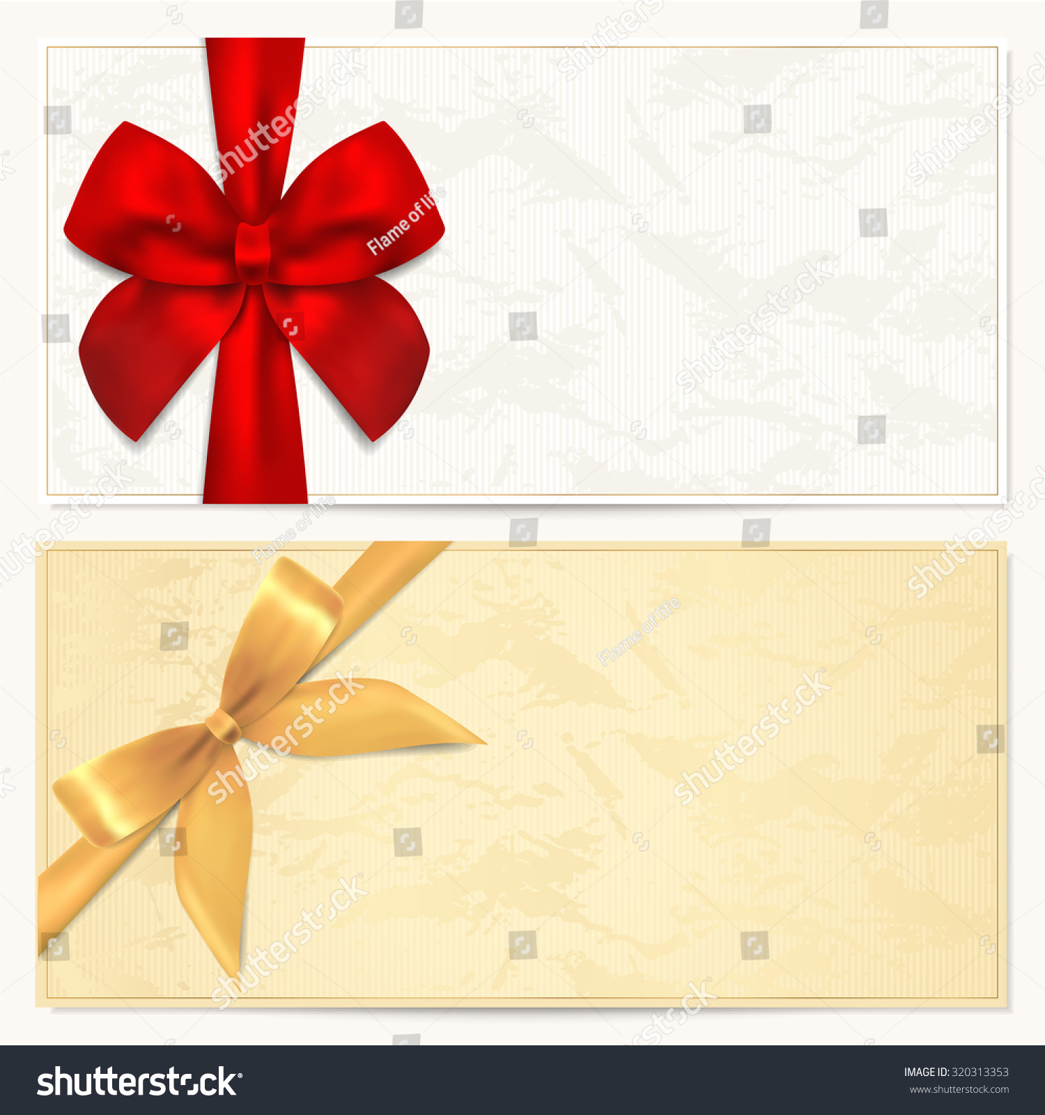 Voucher Gift Certificate Coupon Gift Money Illustration – Gift Certificate Blank Template