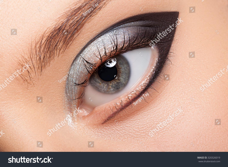 Eye Makeup Closeup Very Beautiful Eyes Stock Photo Edit Now