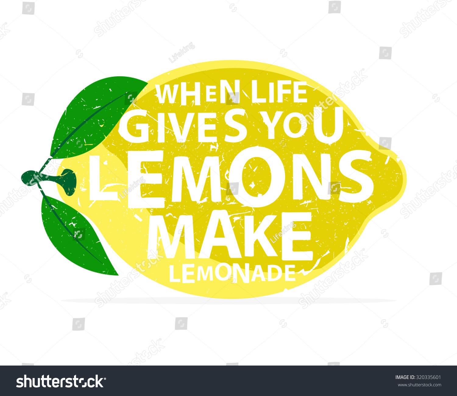 When Life Gives You Lemons Make Stock Vector Royalty Free
