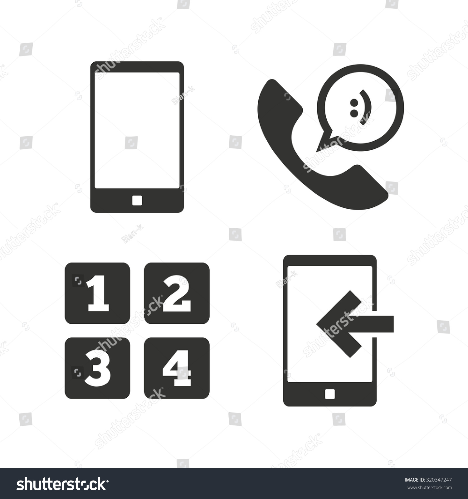 Phone icons smartphone incoming call sign stock vector 320347247 phone icons smartphone incoming call sign call center support symbol cellphone keyboard symbol biocorpaavc Images