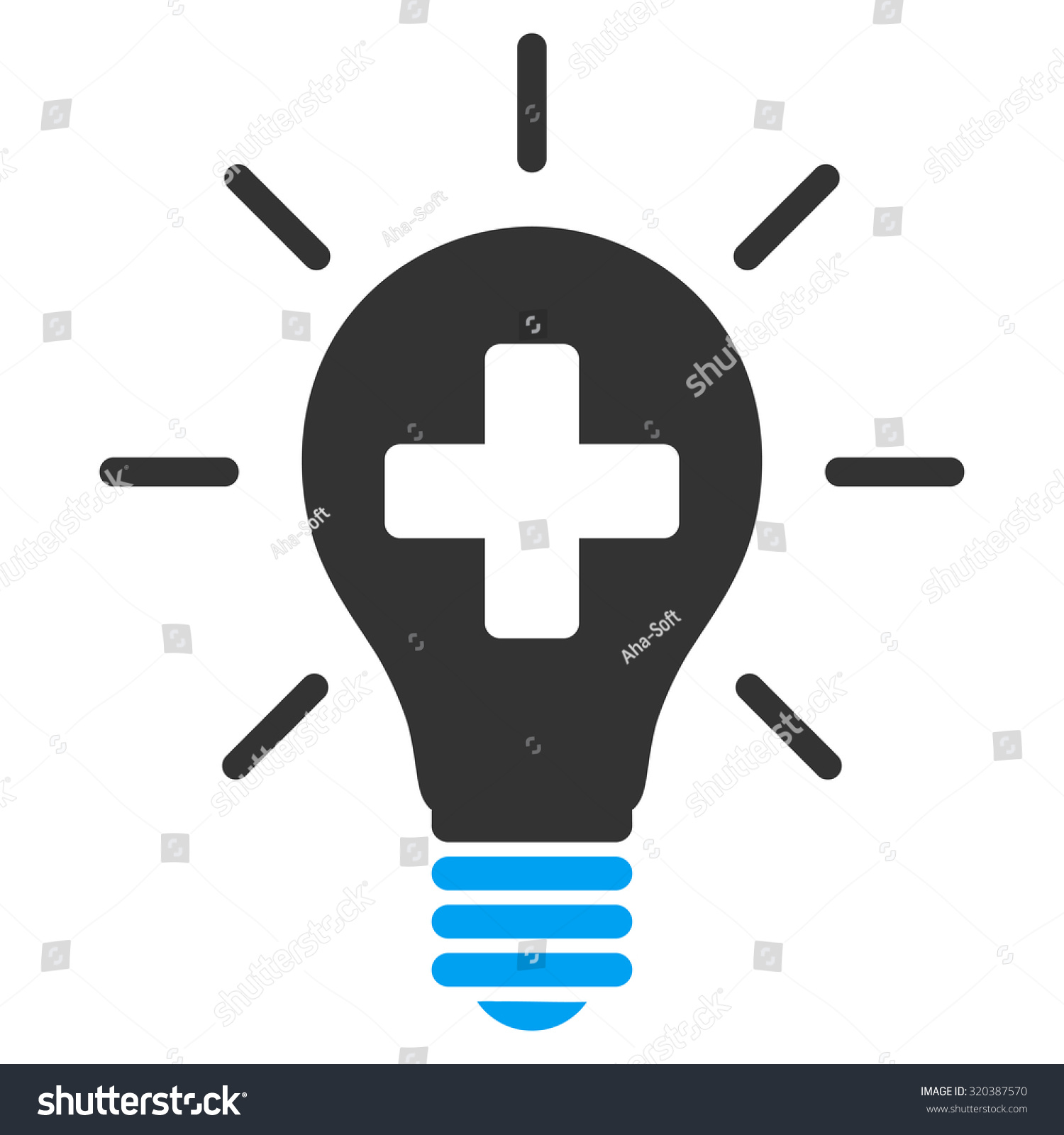 Medical Electric Lamp Vector Icon Style Is Bicolor Flat Symbol Blue And Gray Colors
