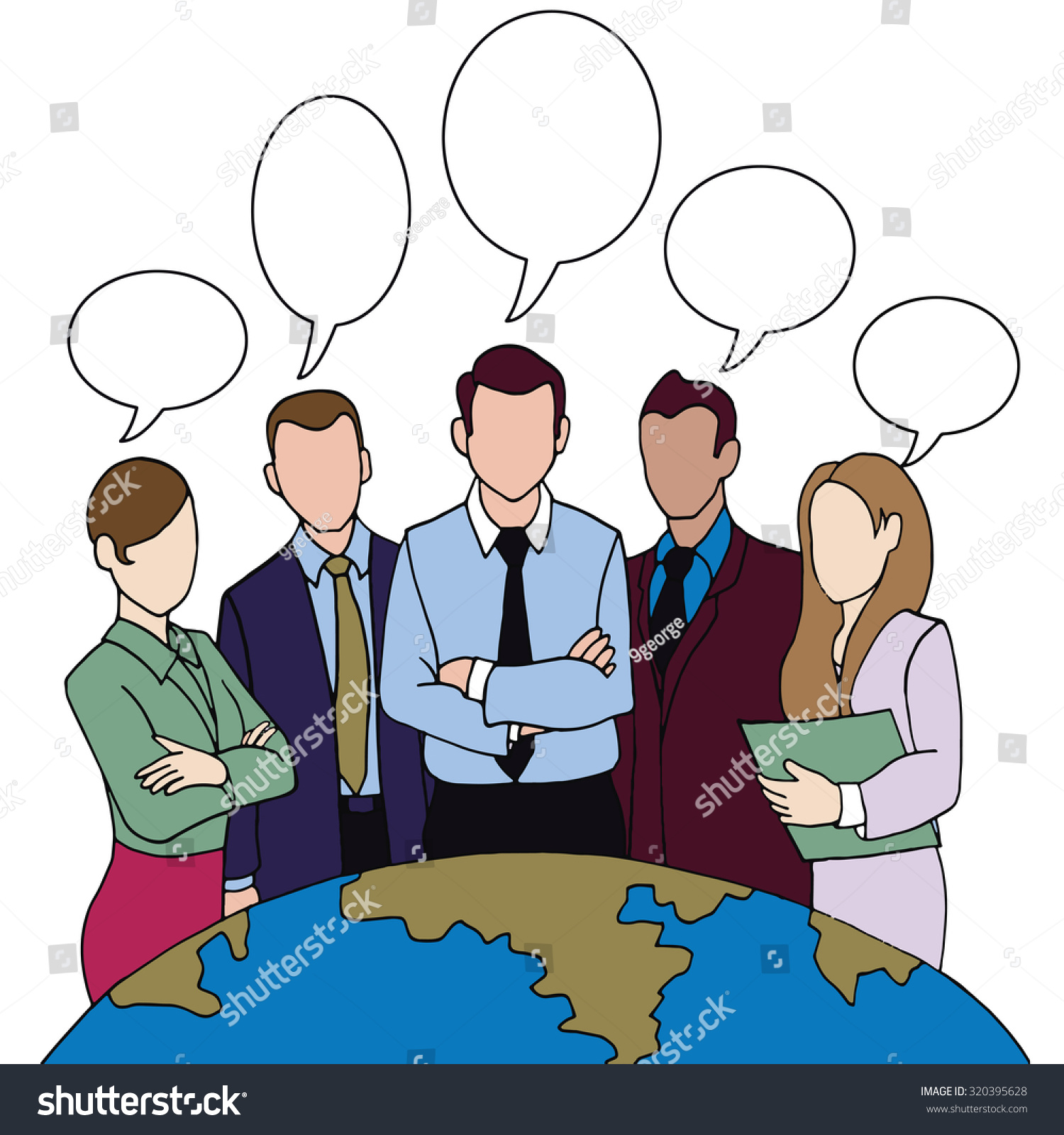 hand drawing successful team leader team stock vector 320395628 hand drawing successful team leader a team of successful executives led by a great and
