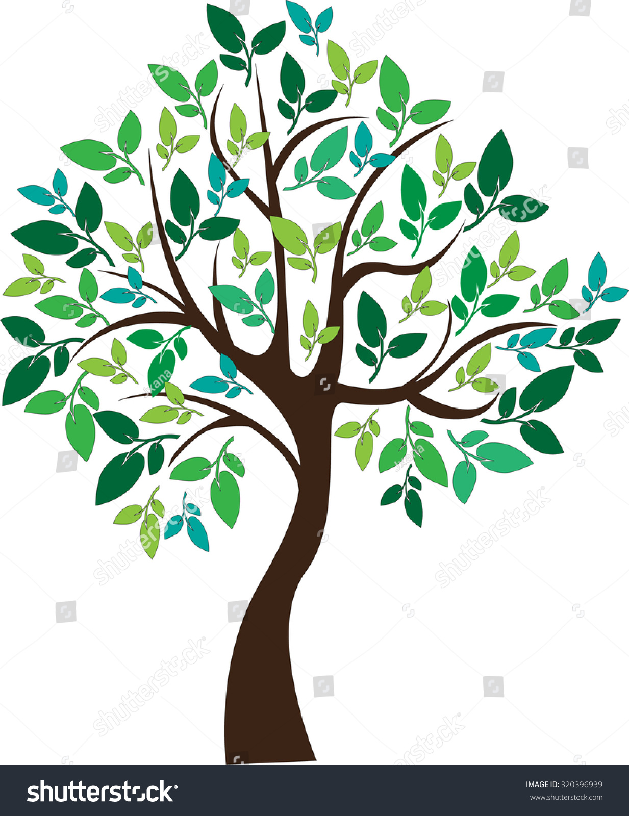 tree Abstract Circle Leaf Stock Vector (2018) 320396939 - Shutterstock