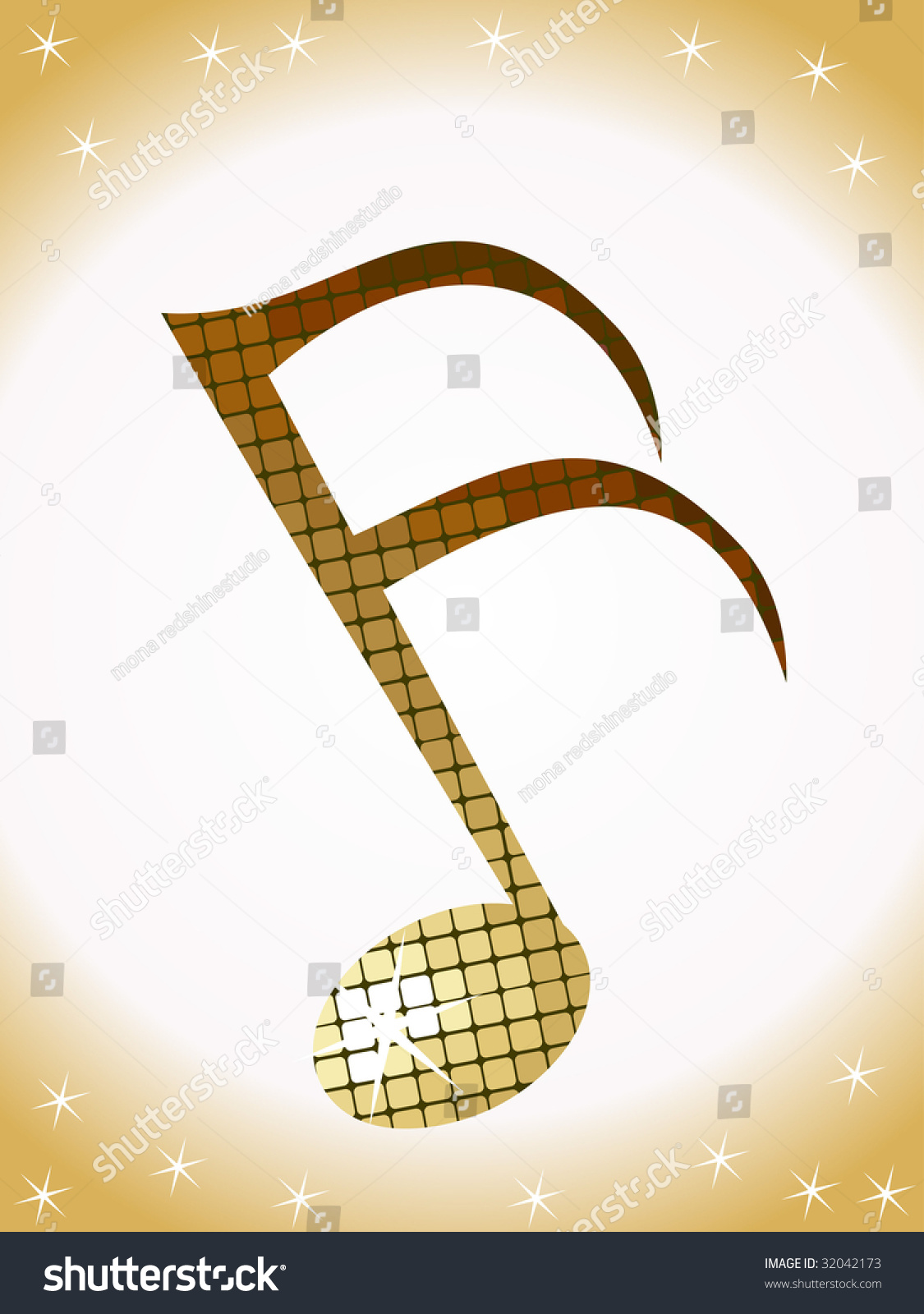 Music Note Disco Light This Type Stock Vector Royalty Free