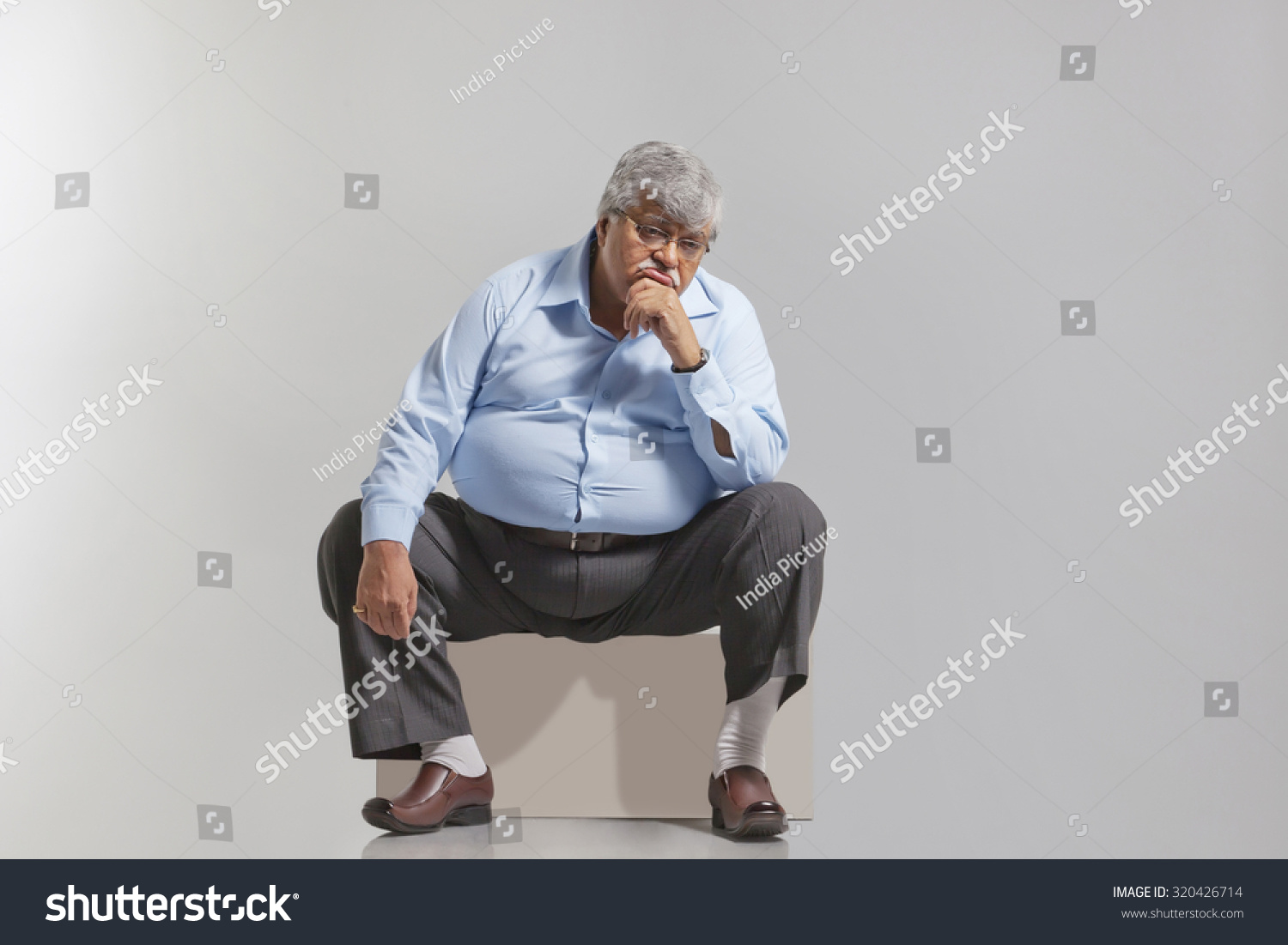 Obese Old Man Feeling Sad Stock Photo 320426714 - Shutterstock