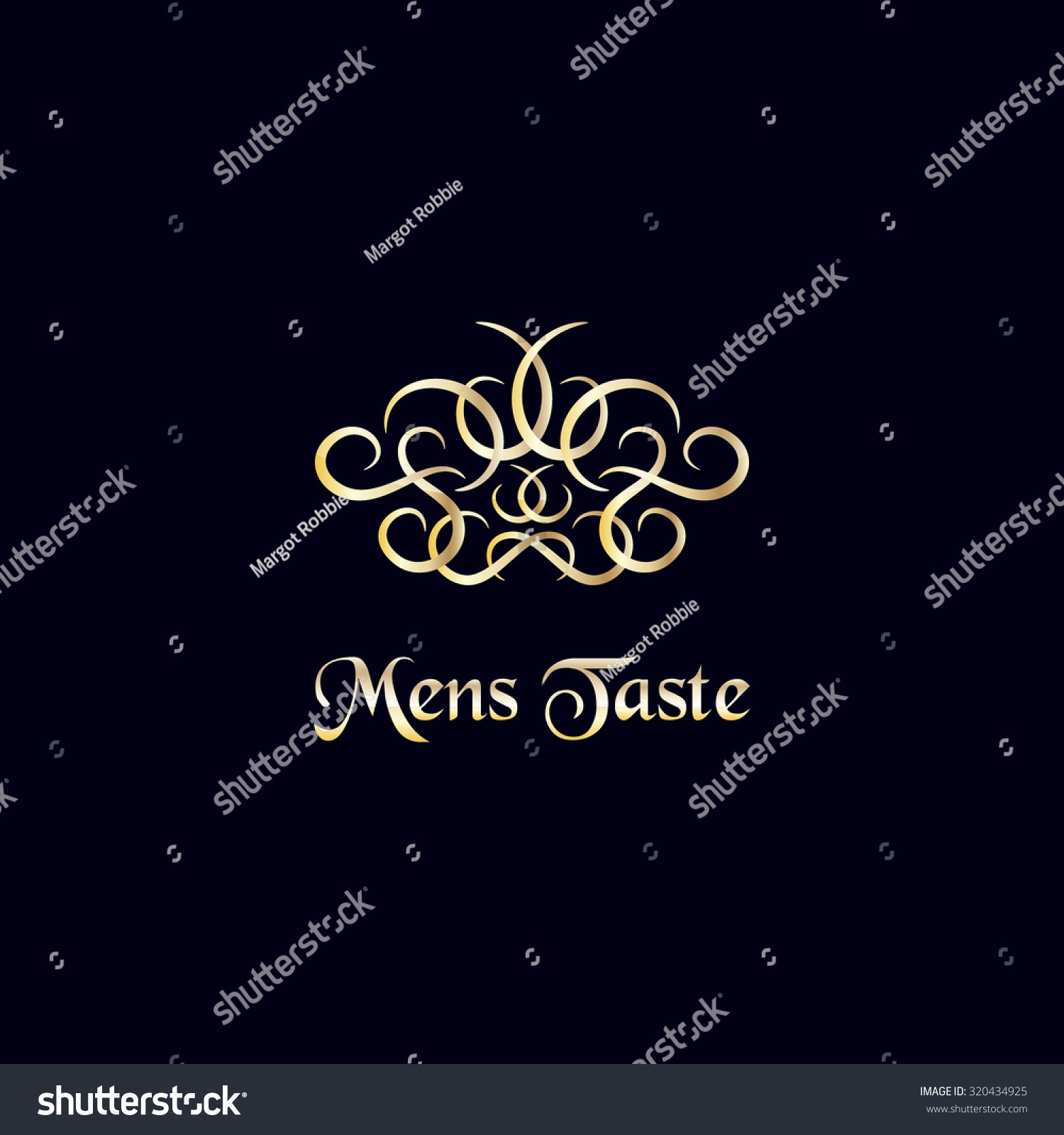 Luxury Logo Template Vintage Golden Decoration Stock Photo Photo