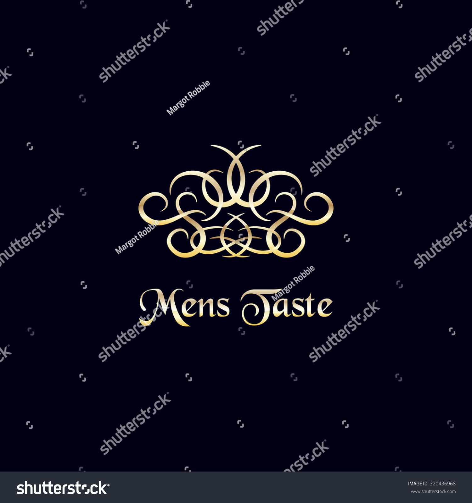 Luxury Logo Template Vintage Golden Decoration Stock Vector Royalty