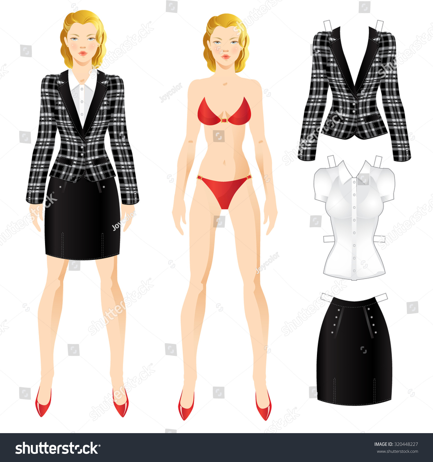 Doll with clothes body template set of template paper for Paper doll template woman