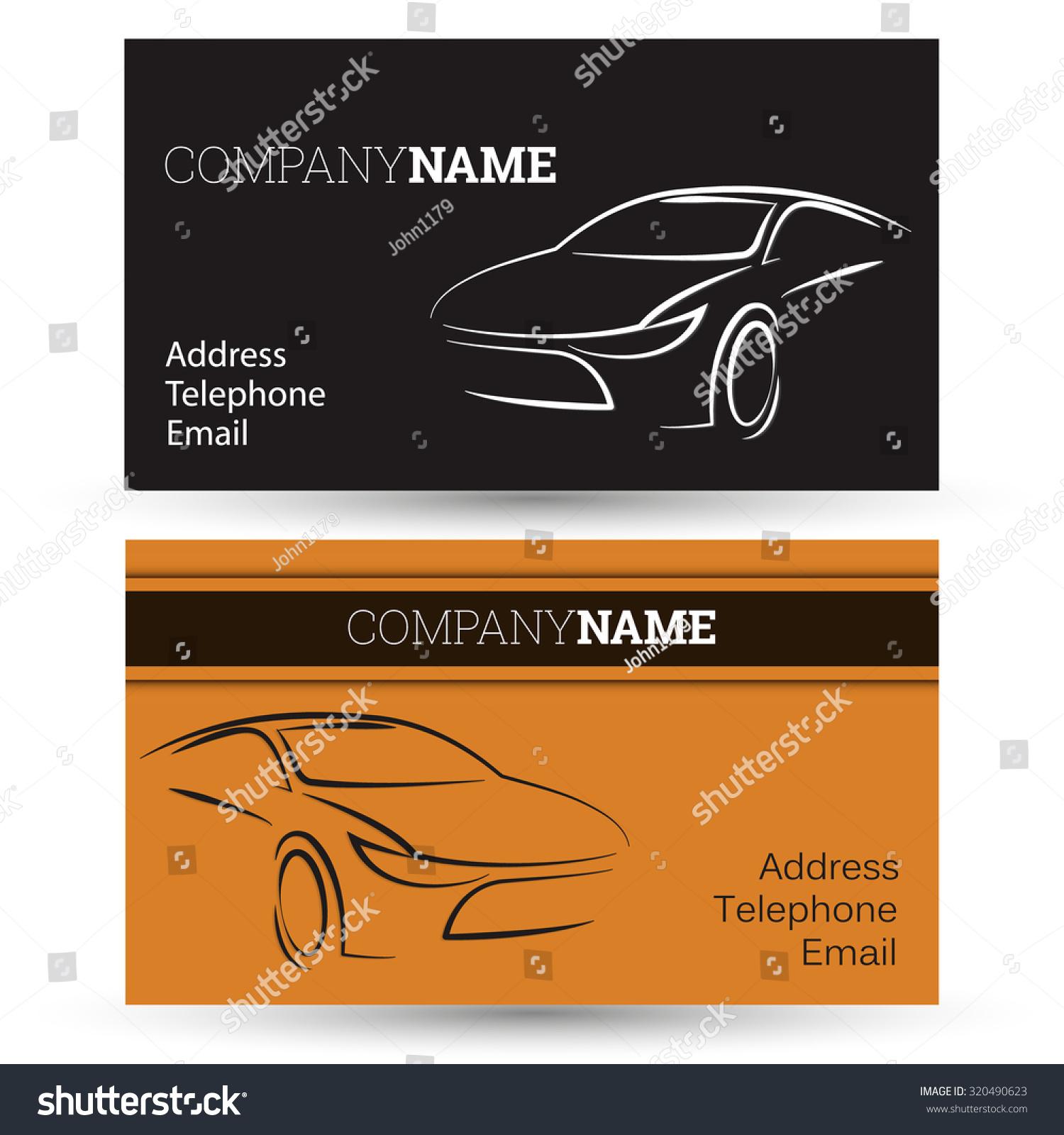 car business card business vector stock vector