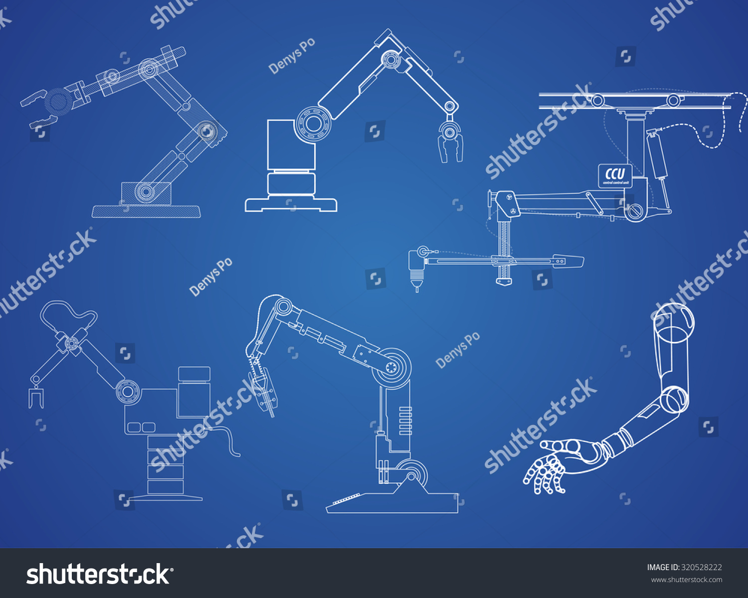 Drawing symbol robot arm on blue stock vector 320528222 shutterstock drawing symbol robot arm on blue background vector eps 10 biocorpaavc