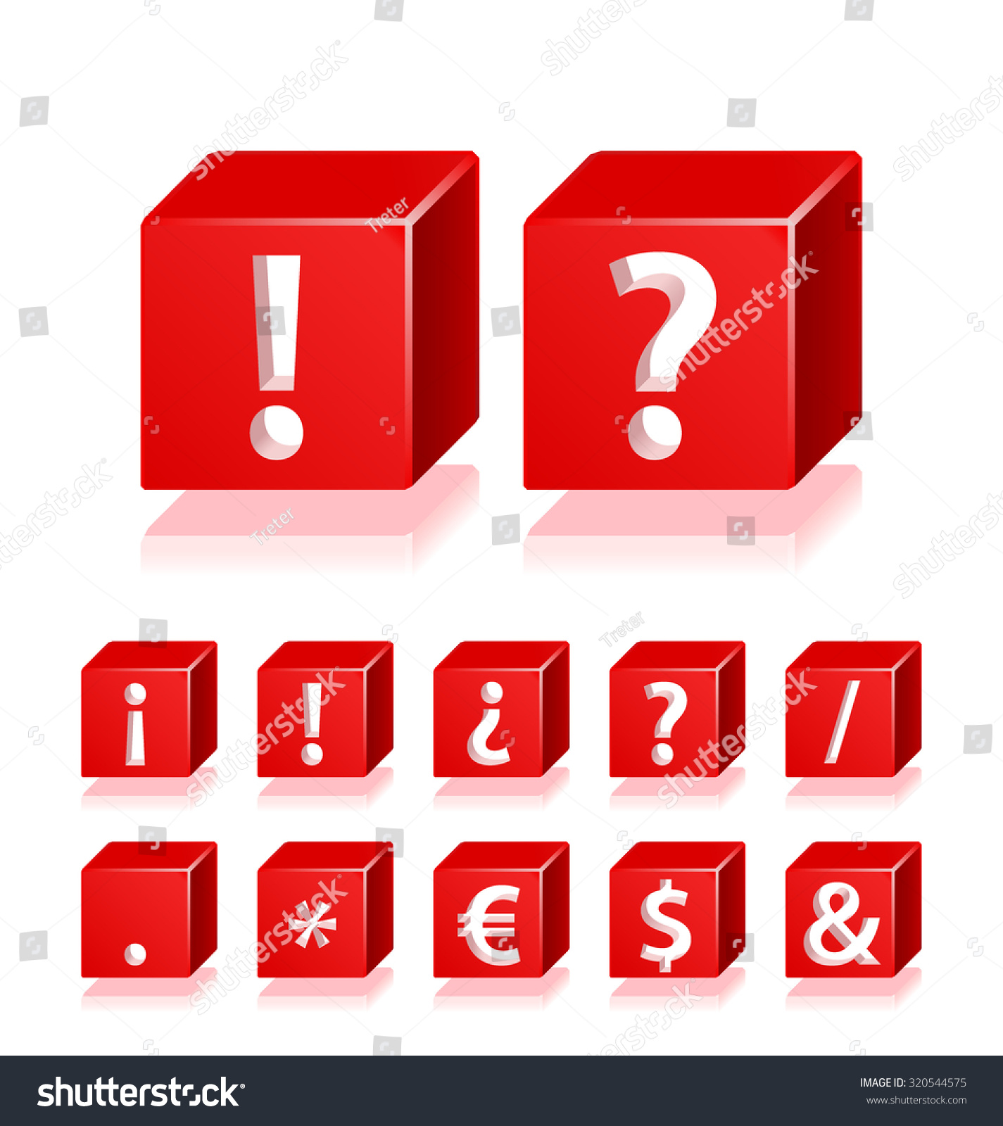 High Quality 3 D Red Cube Symbols Stock Vector Royalty Free