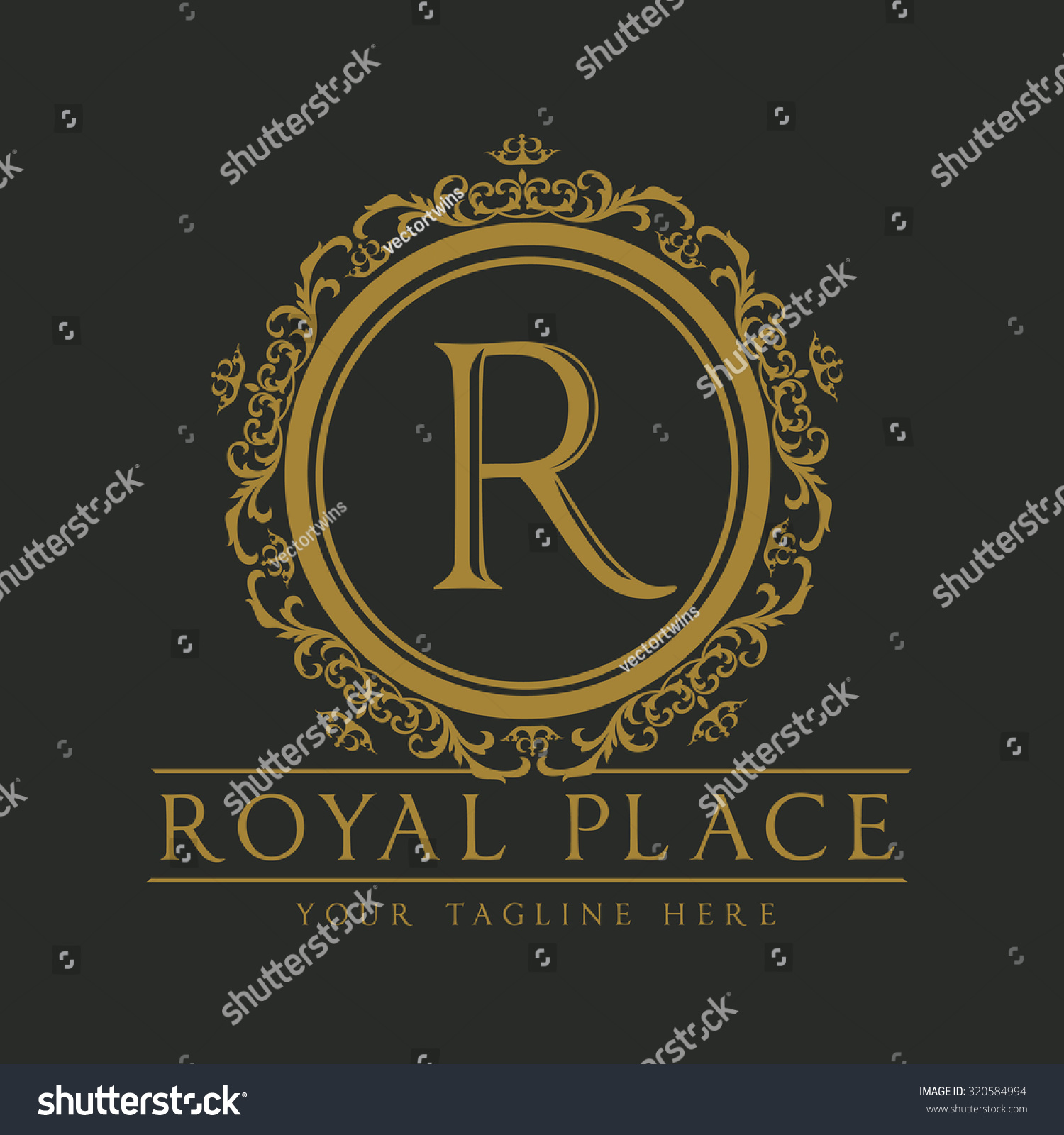 Royal Place Logoboutique Hotel Logohotel Logocrest Stock Vector ...