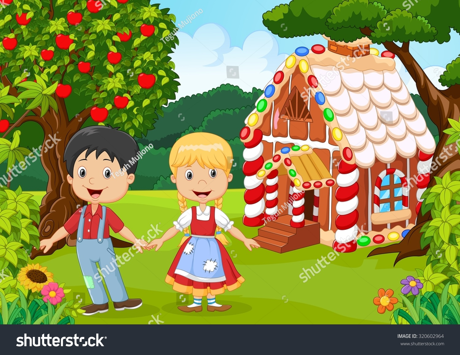 Classic Children Story Hansel Gretel Stock Vector 320602964 ...
