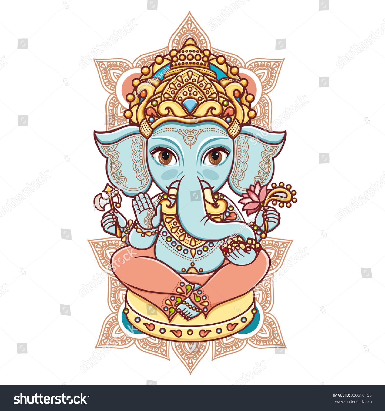 Ganesh. God Lord Ganesh. Hindu Elephant Hinduism. Happy Ganesh Chaturthi. Vector Elements