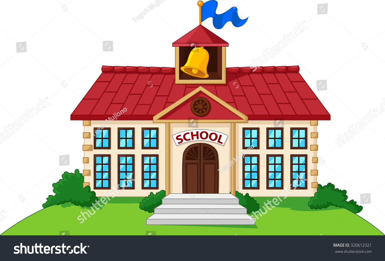 Patio House Cartoon School Building Pictures To Pin On Pinterest