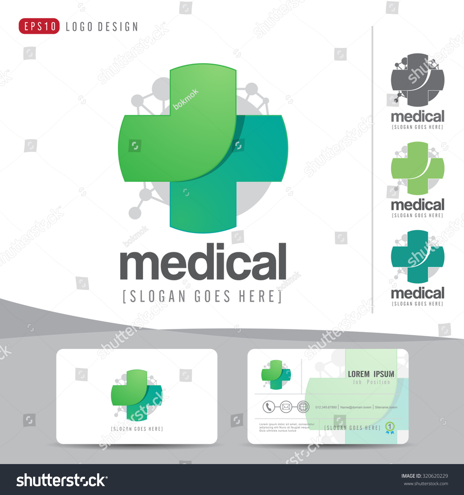 logo design medical healthcare hospital business stock vector