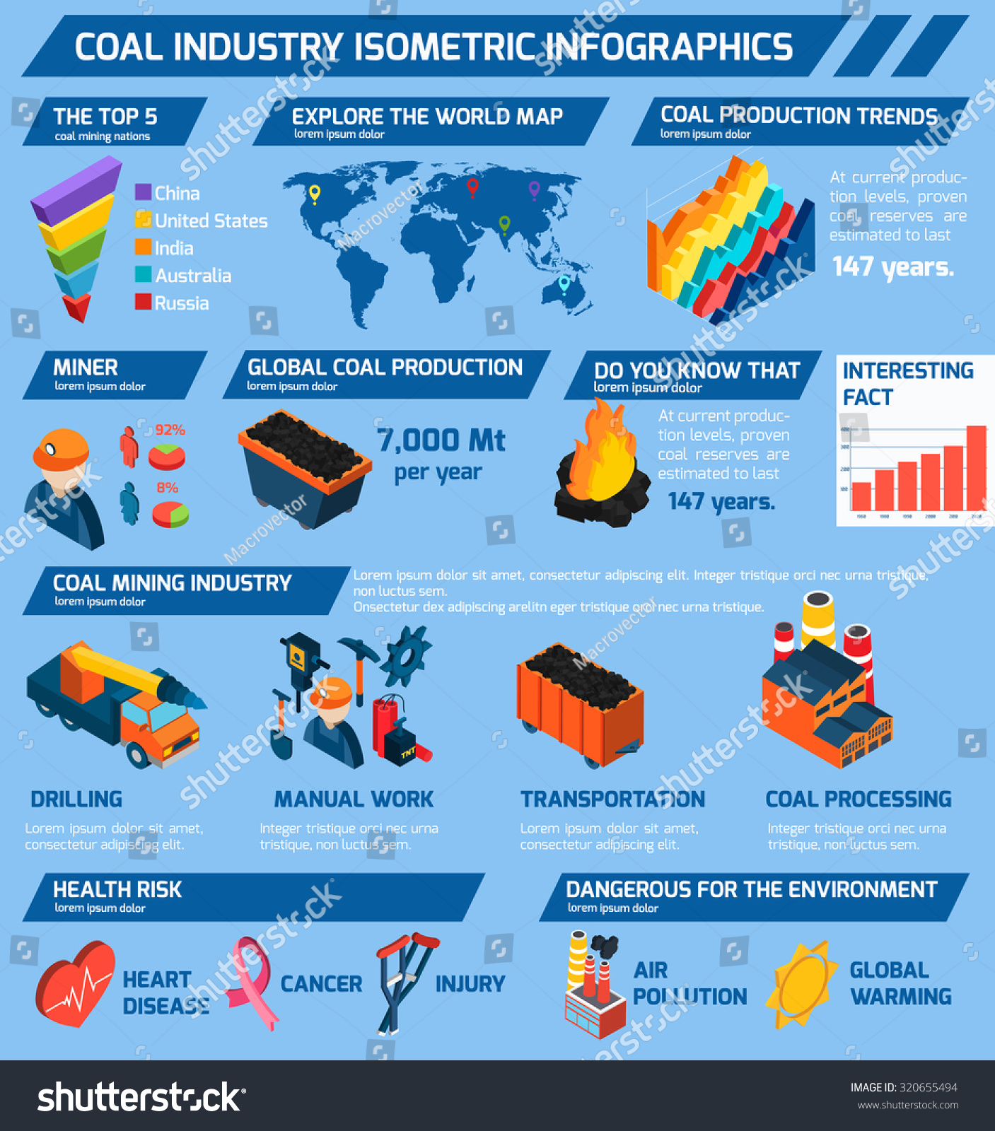 Coal industry isometric infographics set minerals stock coal industry isometric infographics set with minerals extraction symbols and charts illustration biocorpaavc Choice Image