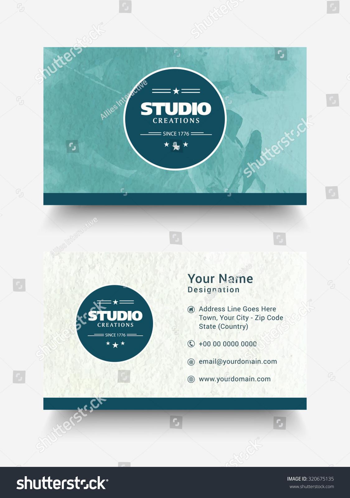 Creative Horizontal Business Card Visiting Card Stock Vector ...
