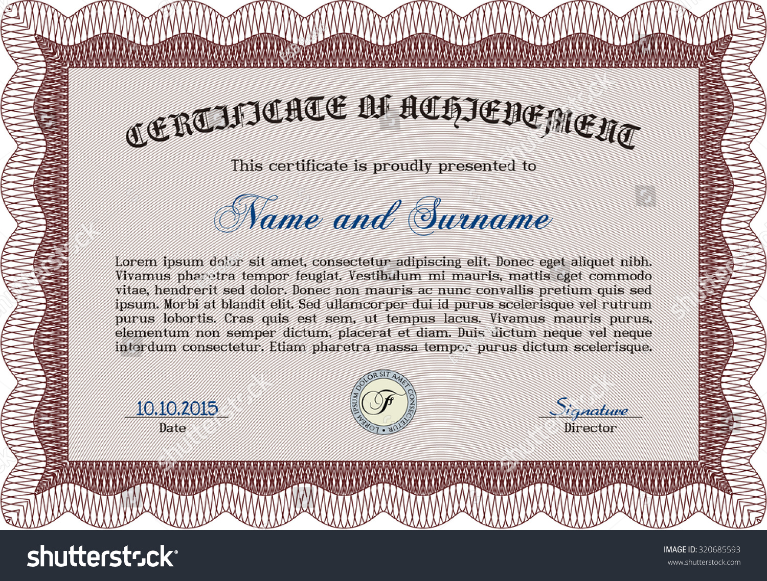 Diploma Template Certificate Template Vector Pattern Stock Vector ...