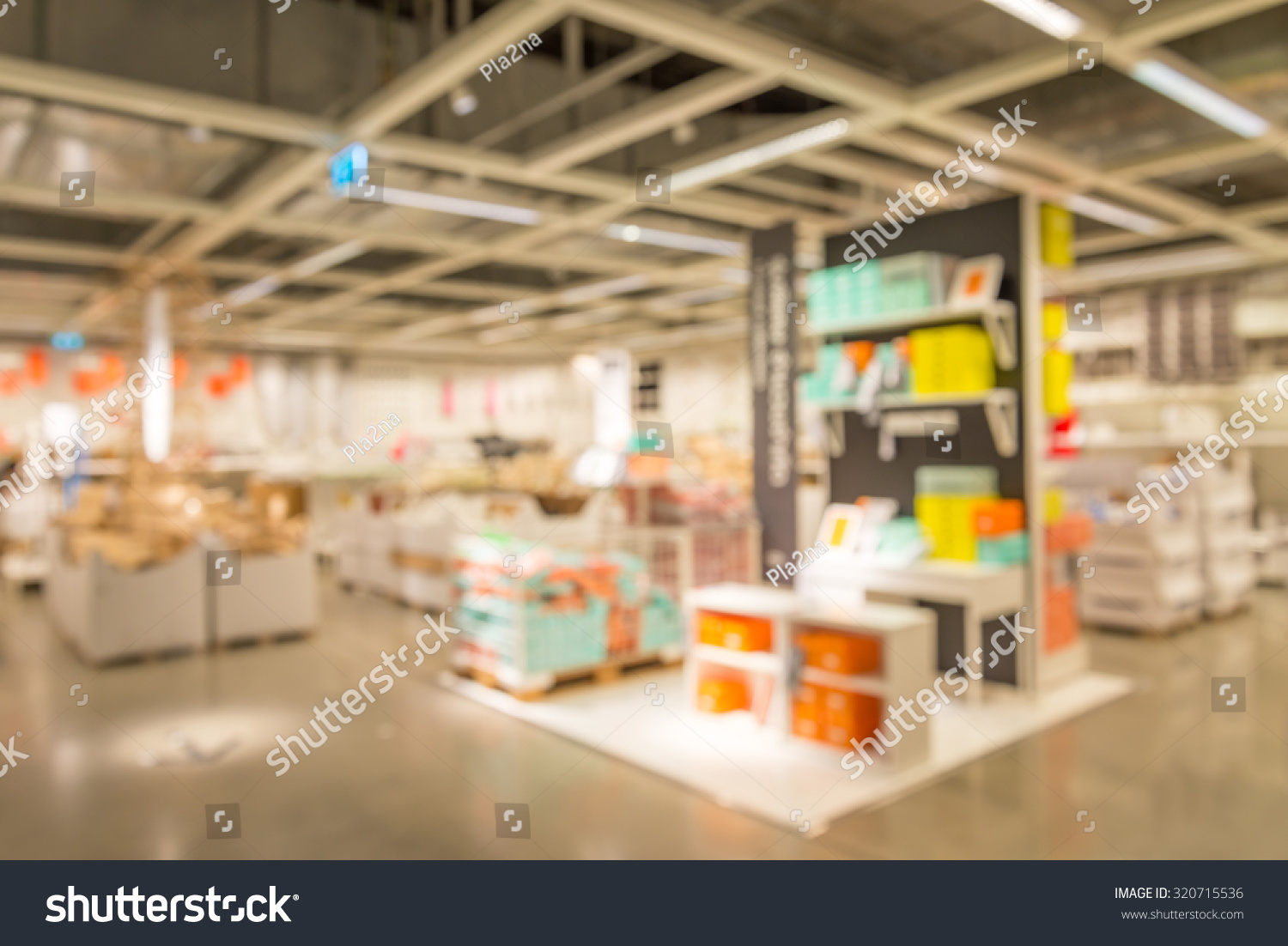 Blurred House abstract blurred furniture home decor store stock photo 320715536