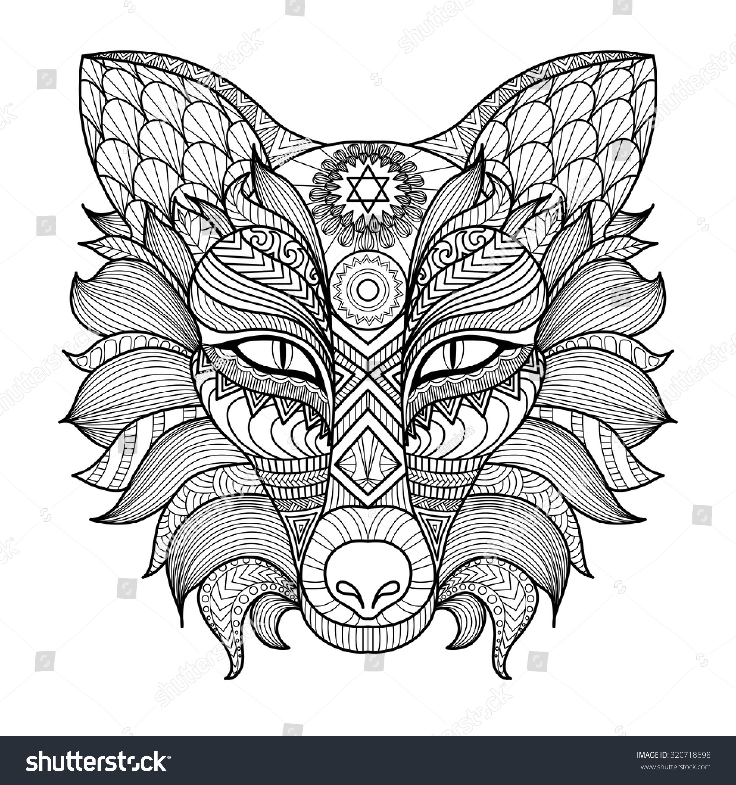 Foxes At Table Coloring Page