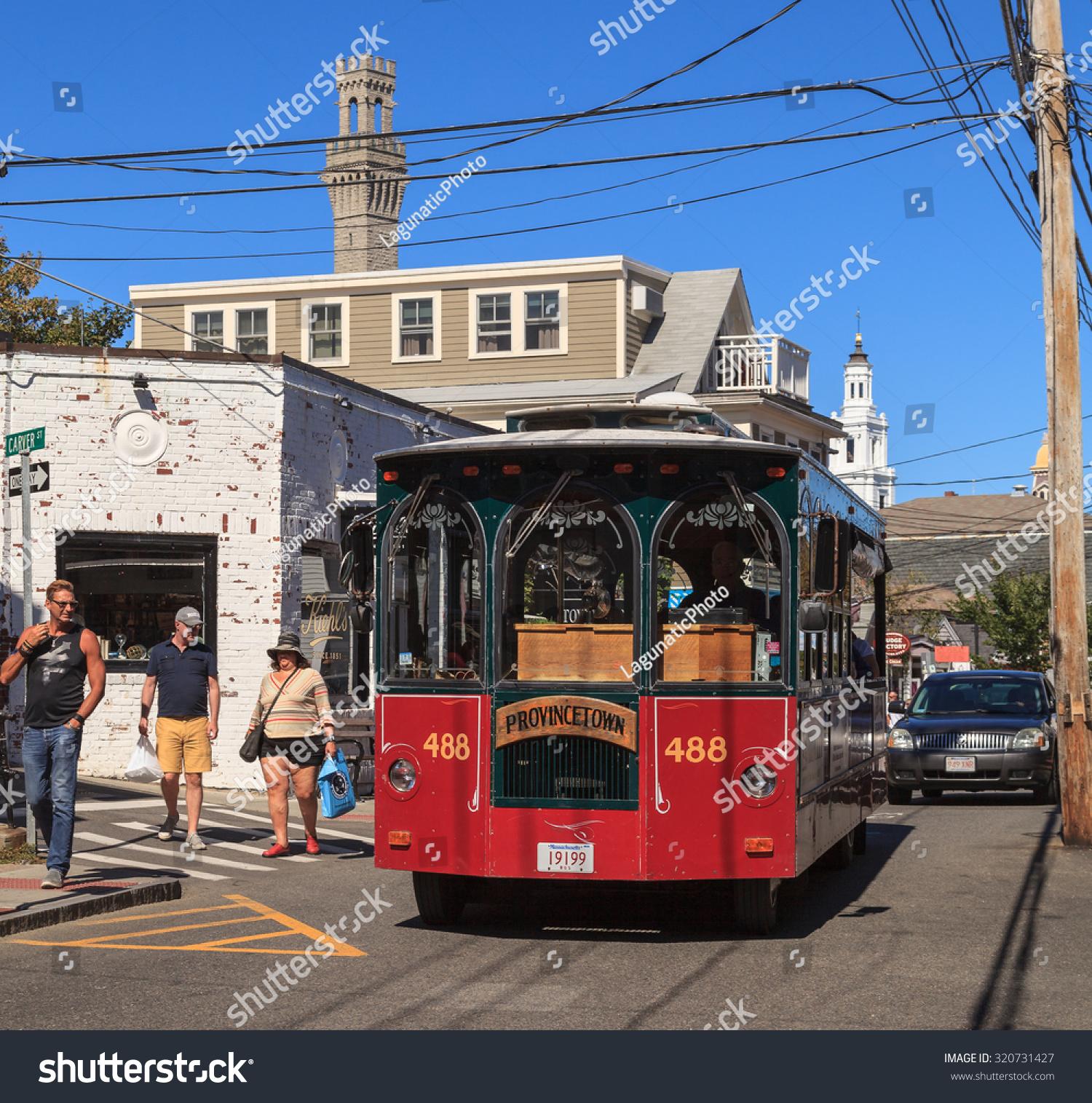 Provincetown Massachusetts September 23 2015 Trolley Stock