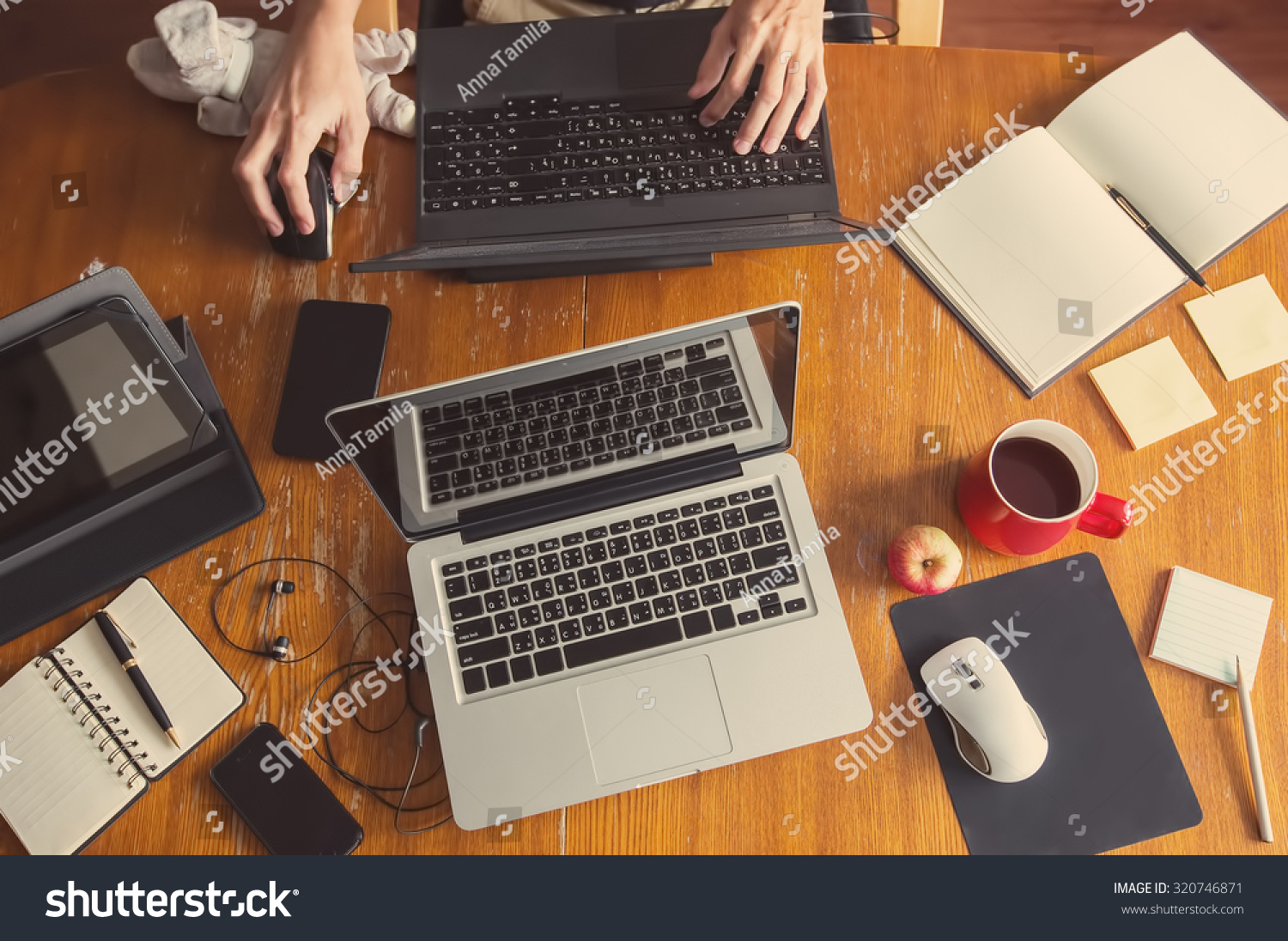 Prime Workspace Home Freelance Family Teamwork Desktop Stock Photo Largest Home Design Picture Inspirations Pitcheantrous
