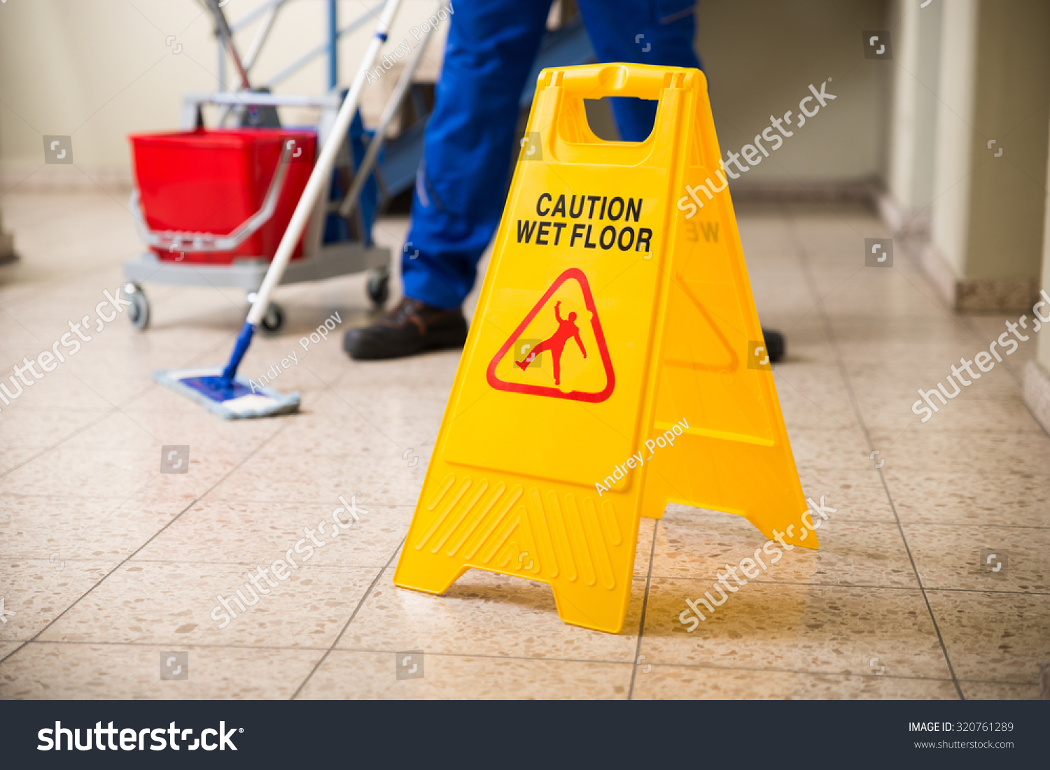 Low section worker mopping floor wet stock photo 320761289 for Floor banner