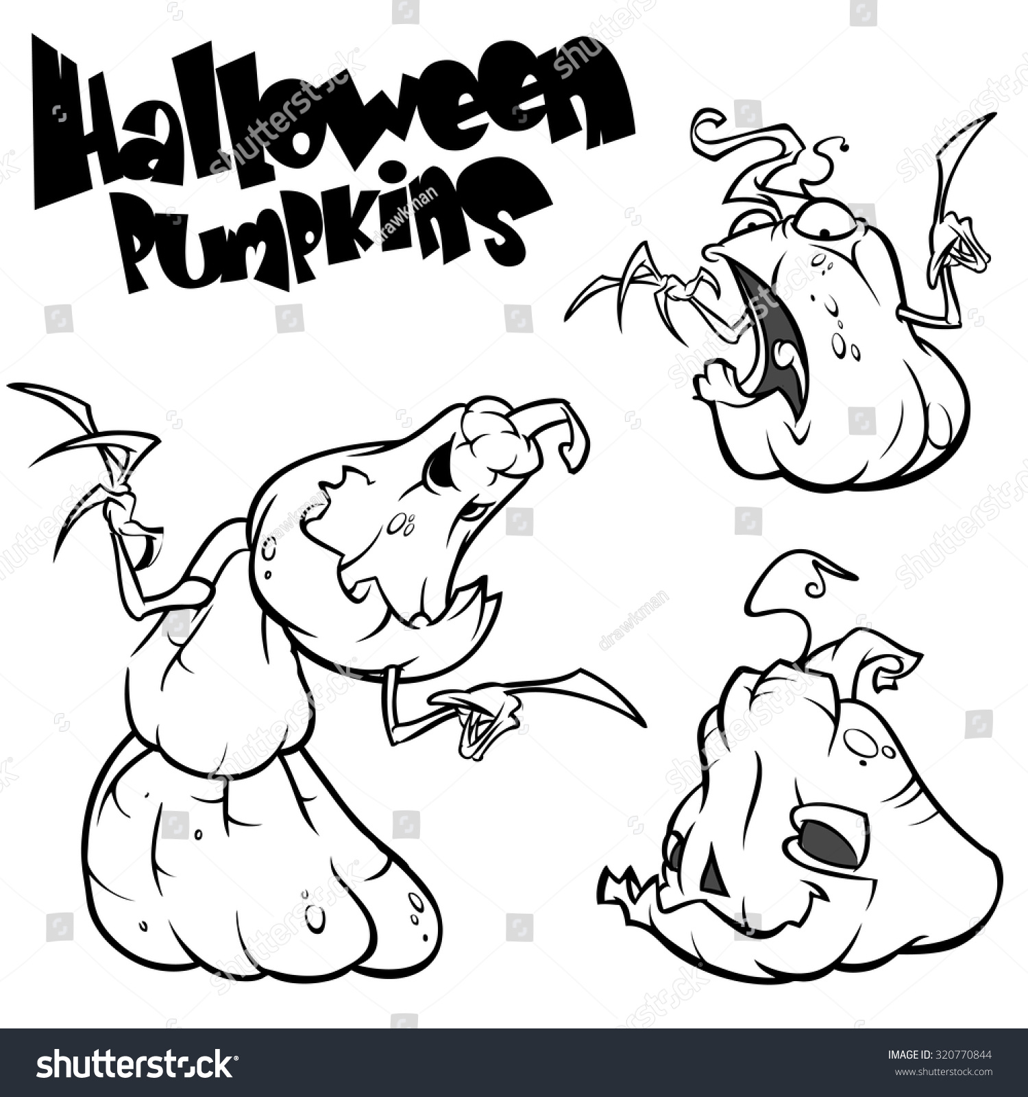 vector set back white scaring halloween stock vector (royalty free