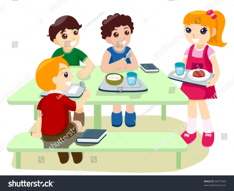 School Break Time Clipart school lunch stock vectors & vector clip art ...