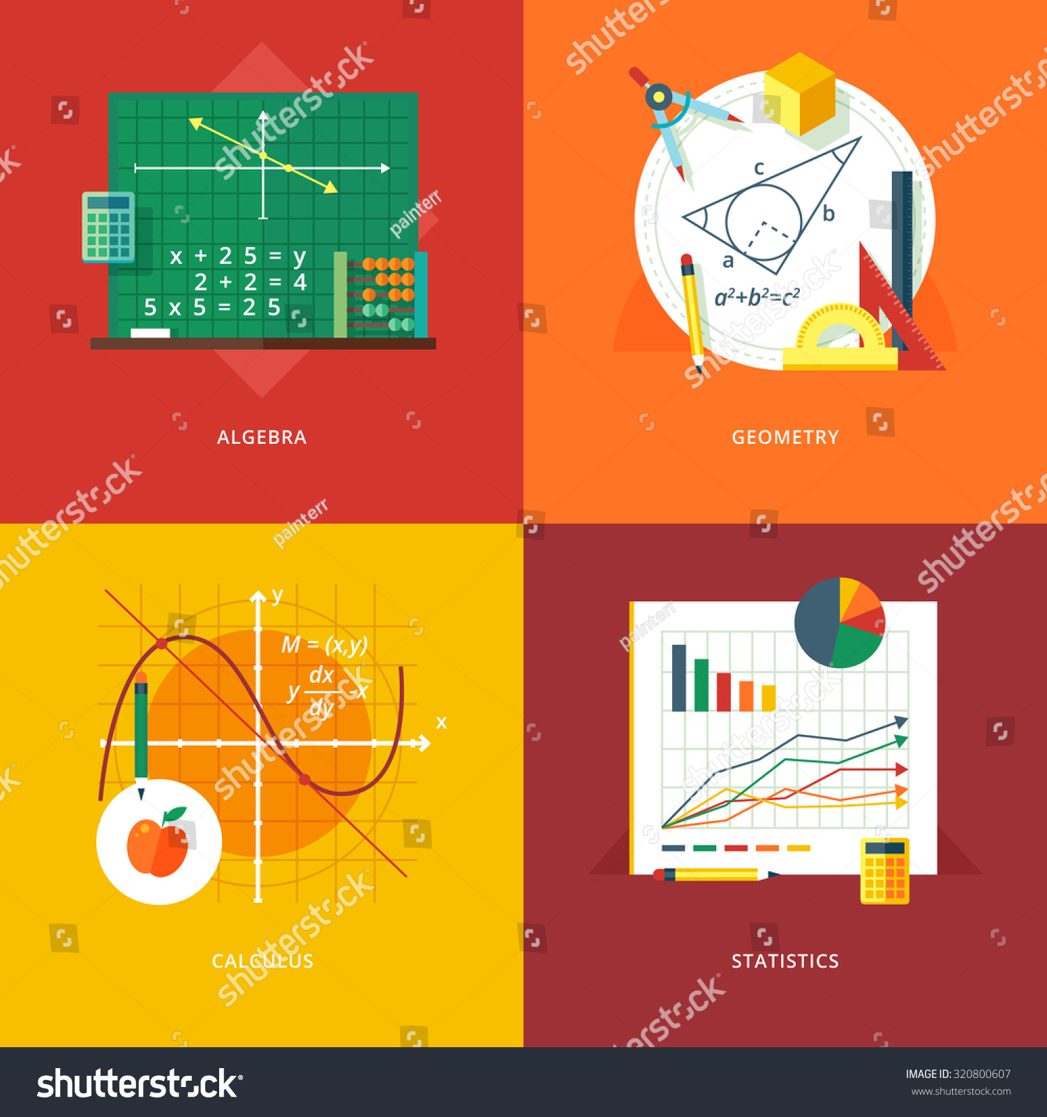 Web Design set of subjects college calculus