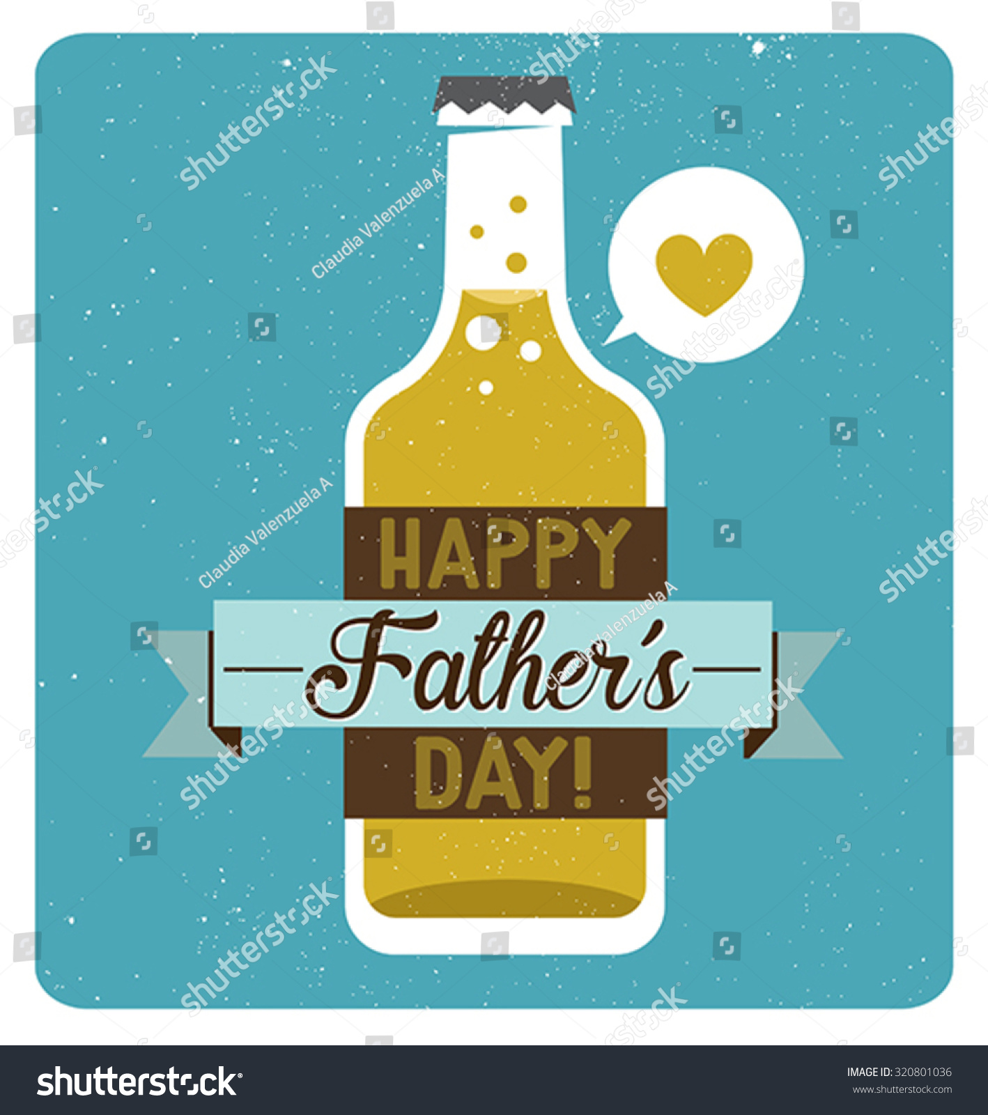 Fathers Day Beer Stock Vector Royalty Free 320801036 Shutterstock