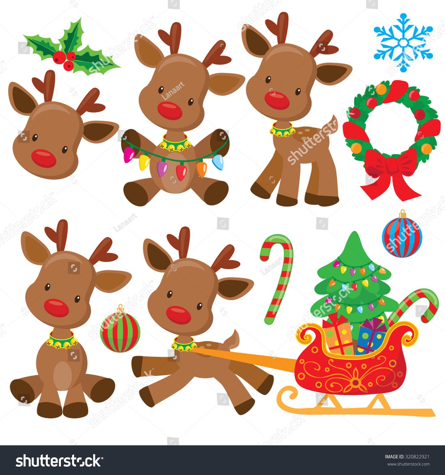 Christmas Reindeer Vector Illustration - 320822921 ...