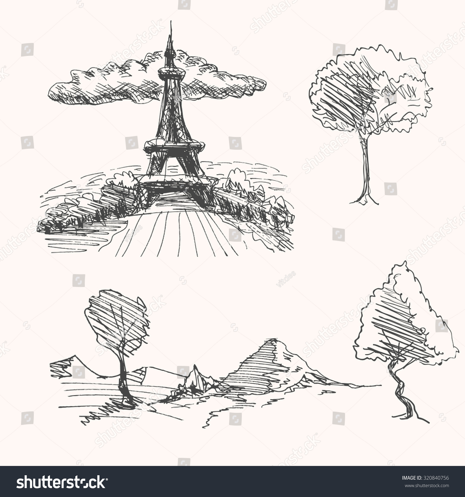 tree drawing landscape diagram search for wiring diagrams