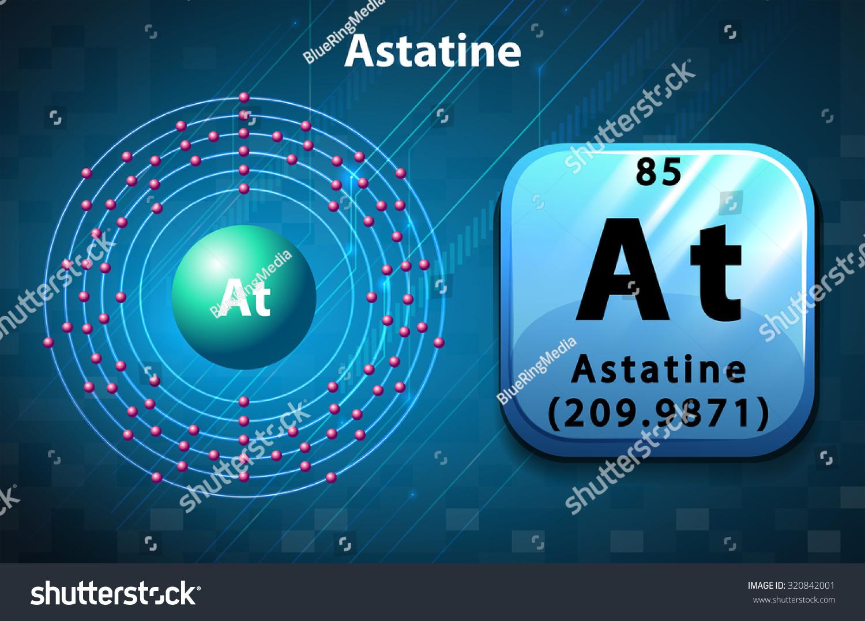 Symbol electron diagram astatine illustration stock vector symbol and electron diagram for astatine illustration gamestrikefo Image collections
