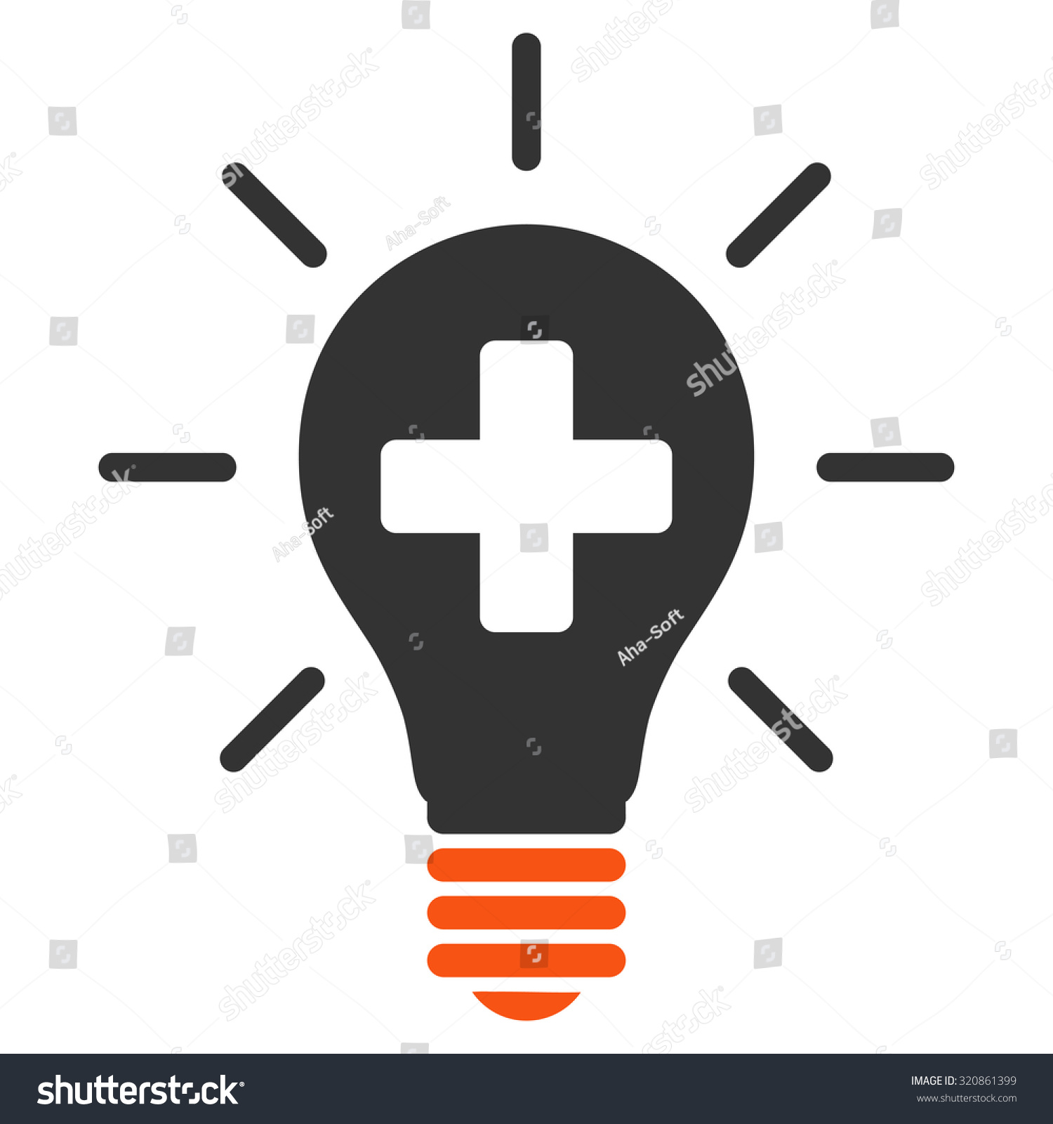 Medical Electric Lamp Glyph Icon Style Stock Illustration 320861399 ...