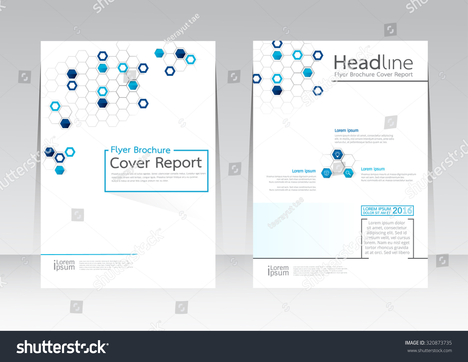Poster design size - Vector Design For Cover Report Brochure Flyer Poster In A4 Size
