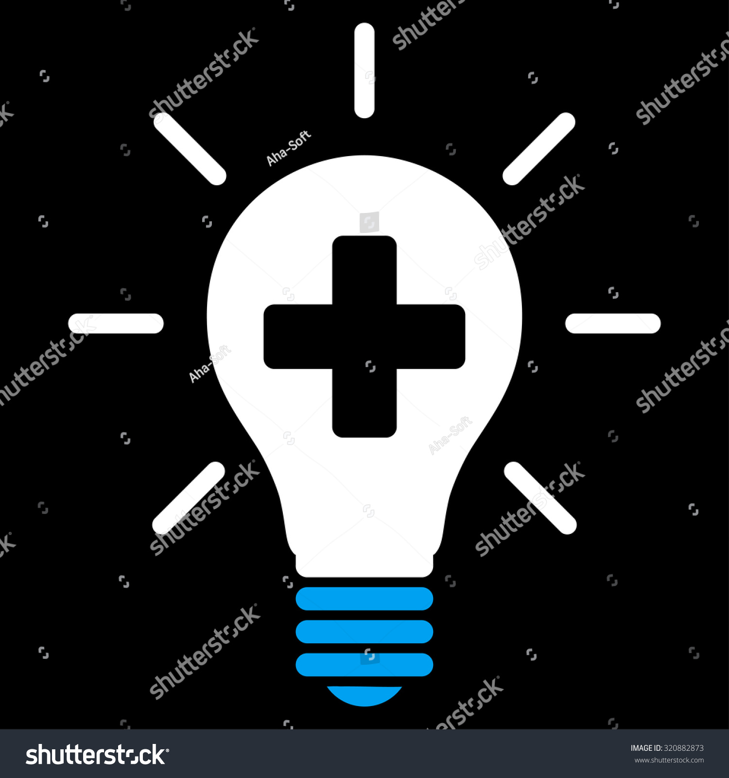 Medical Electric Lamp Glyph Icon Style Is Bicolor Flat Symbol Blue And White Colors
