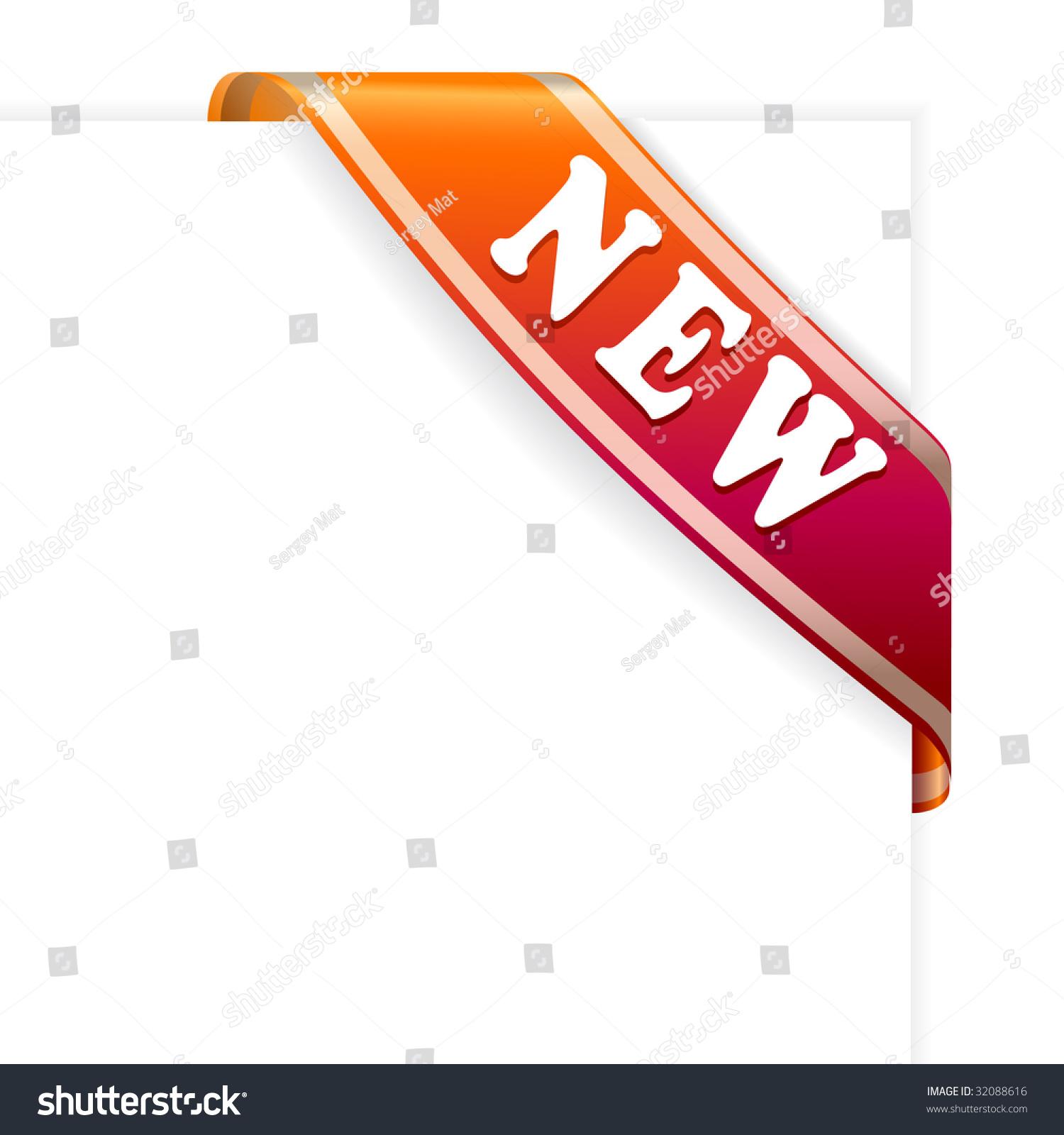 New Red Corner Ribbon Vector Stock Vector 32088616 ...