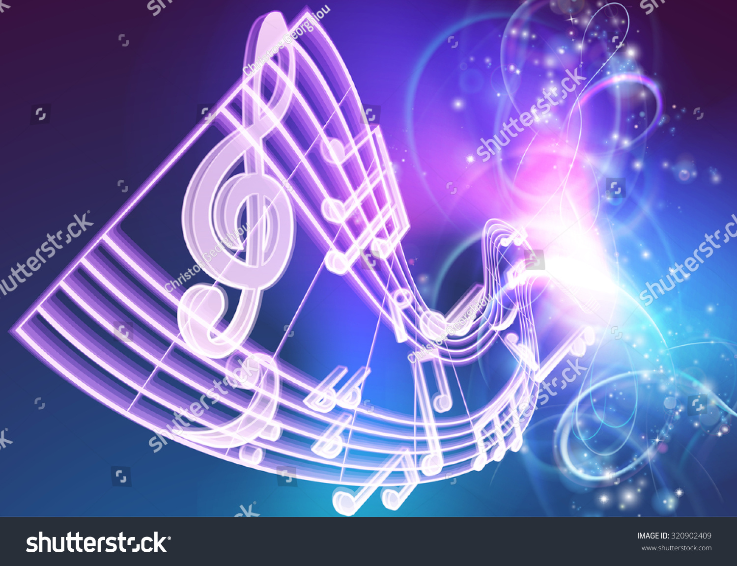 Neon Music Notes Wallpaper: A Music Background Featuring Musical Music Notes Woth A