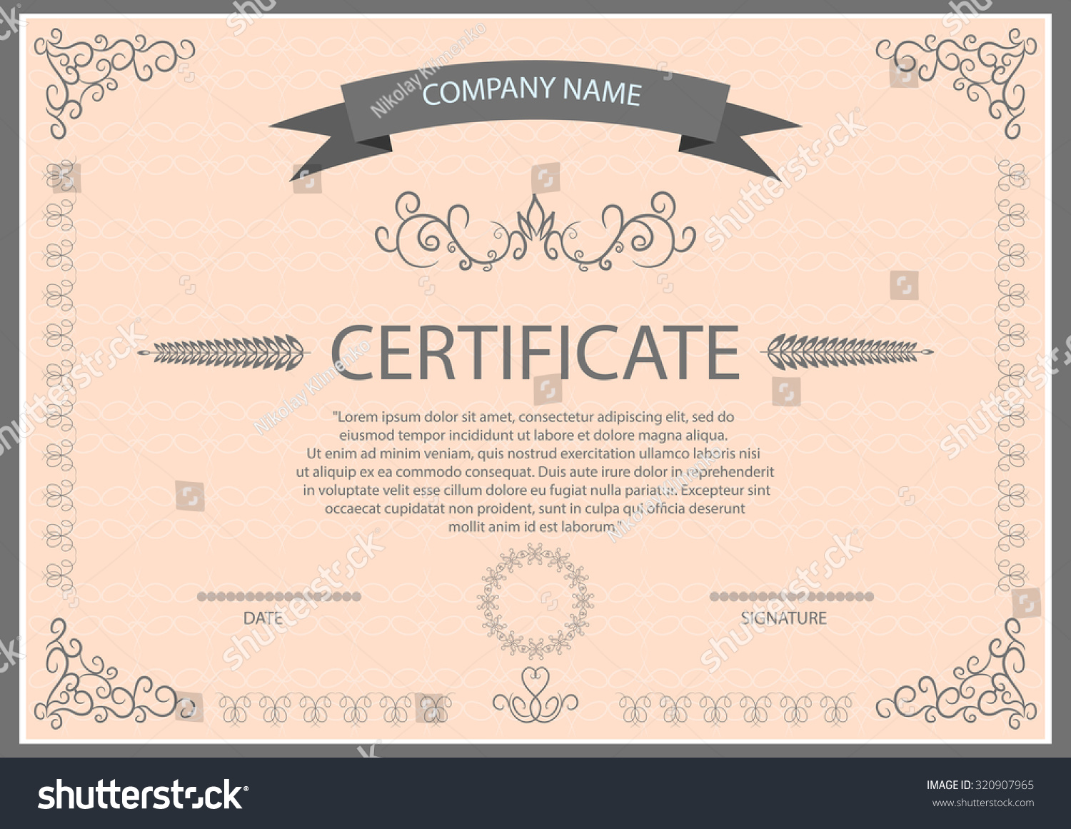 Certificate template eps images certificate design and template vector certificate template eps 10 illustration stock vector xflitez Gallery